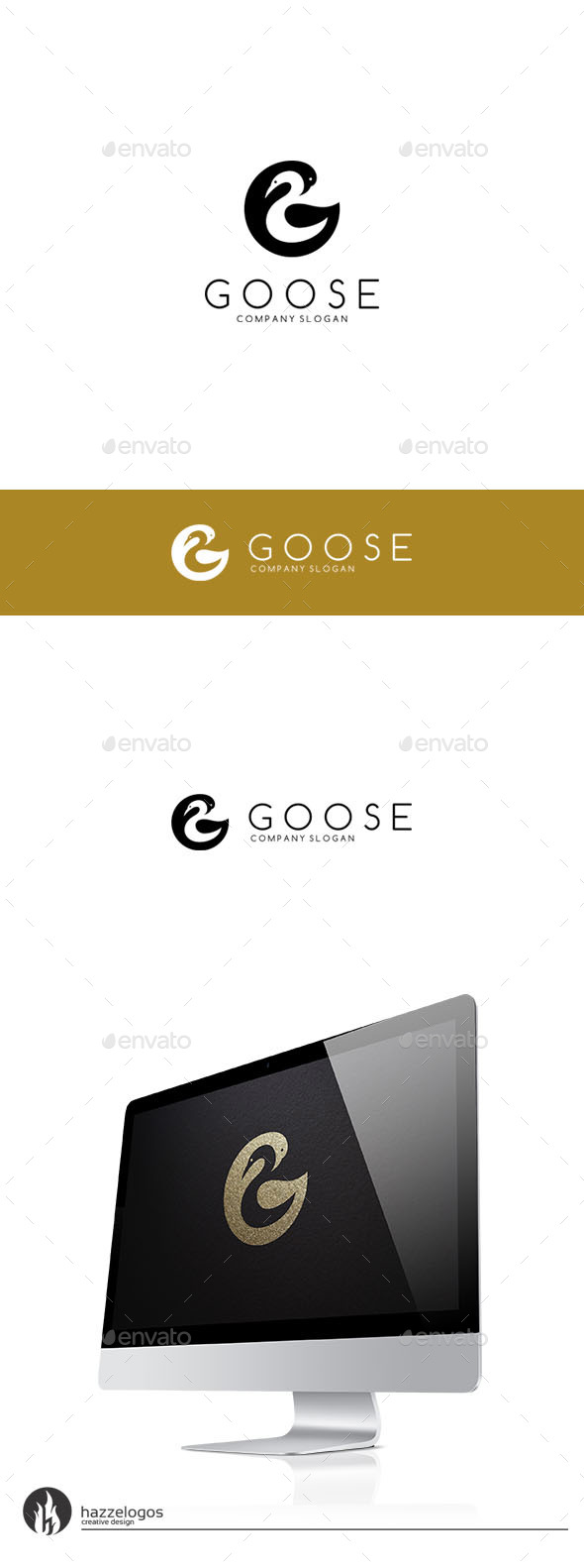Goose - Letter G Logo - Letters Logo Templates