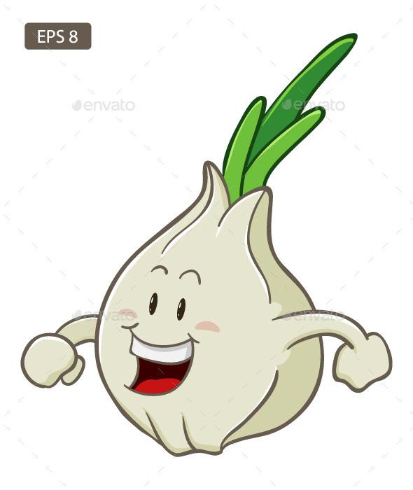 Garlic Cartoon Character - Miscellaneous Characters
