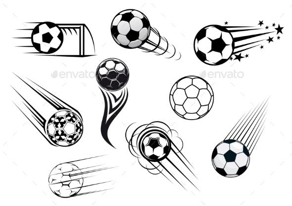 Flying Soccer Balls - Sports/Activity Conceptual