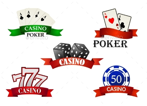Casino and Gambling Emblems - Conceptual Vectors