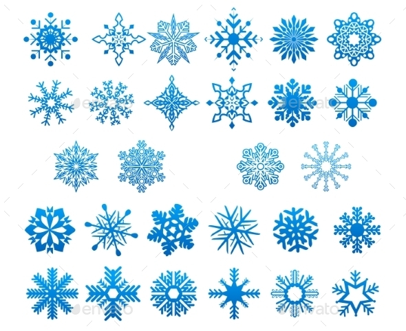 Snowflakes Set - Christmas Seasons/Holidays