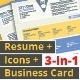 3-in-1 Deal: Resume Template + Icons + Business Card, Cornflower S Template - GraphicRiver Item for Sale