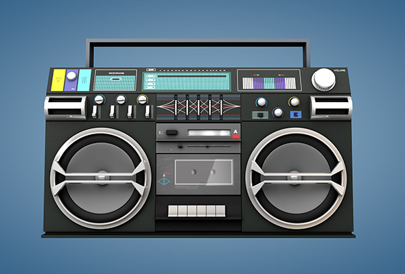 Ghetto Blaster  - 3DOcean Item for Sale