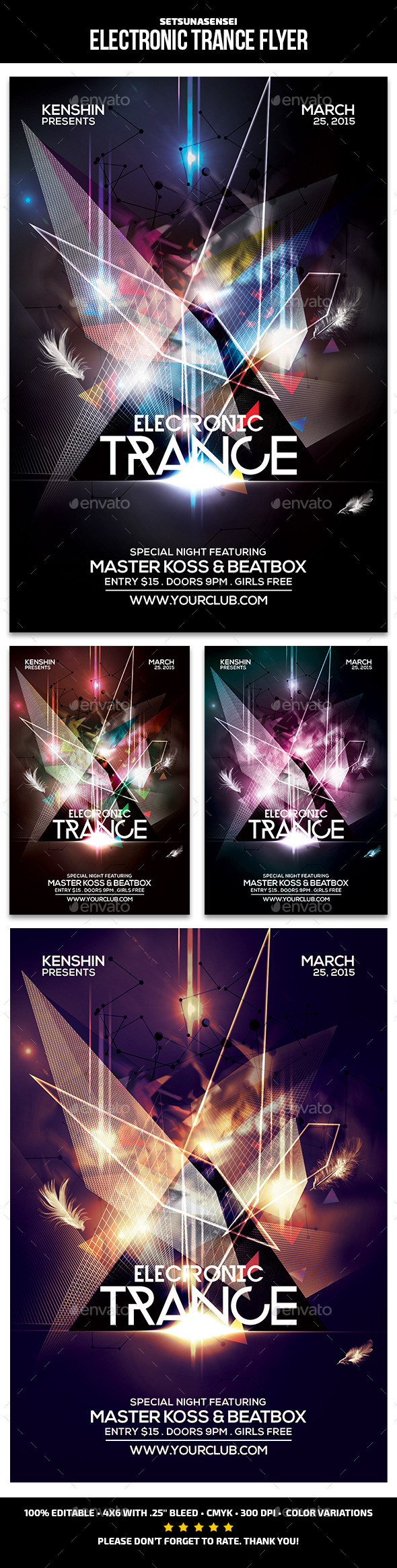 Electronic Trance Flyer - Clubs & Parties Events