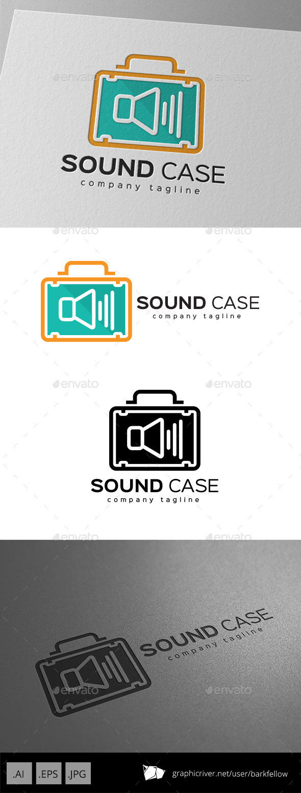 Sound System Case Bag Logo - Symbols Logo Templates