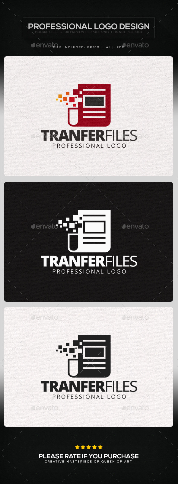 Transfer Files Logo Template - Objects Logo Templates