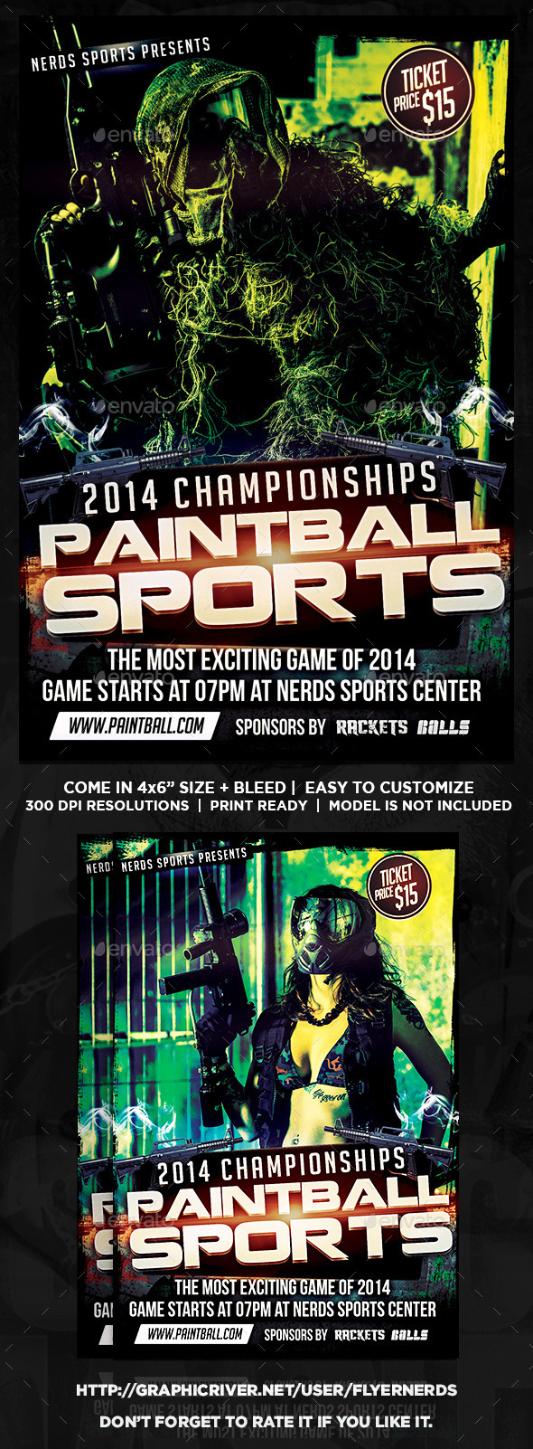 Paintball Competition Sports Flyer - Sports Events