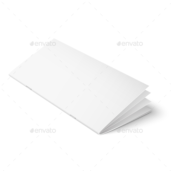 Multipage Brochure Template on White Background - Man-made Objects Objects