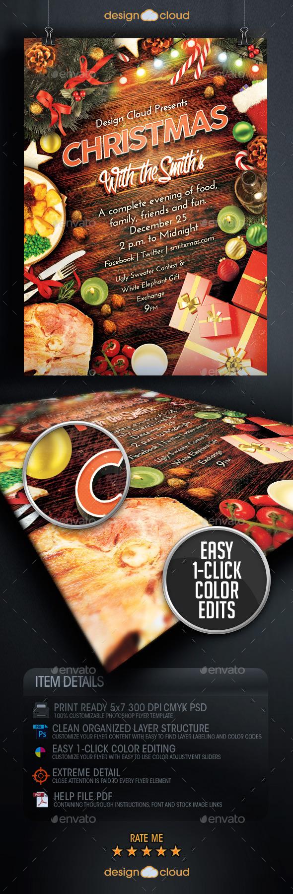 dinner flyer template
