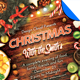 Christmas Family Dinner and Party Flyer Template - GraphicRiver Item for Sale