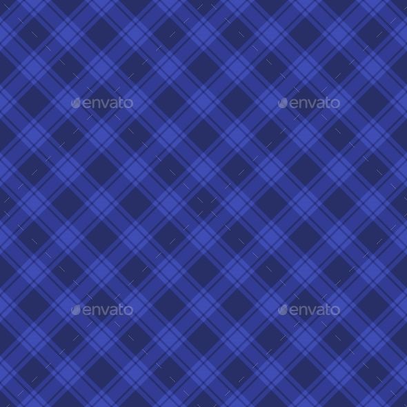 Seamless Blue Fabric Tartan Background. Vector - Backgrounds Decorative