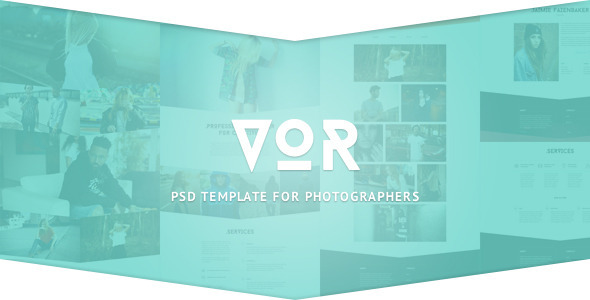 VOR - PSD Template - Photography Creative