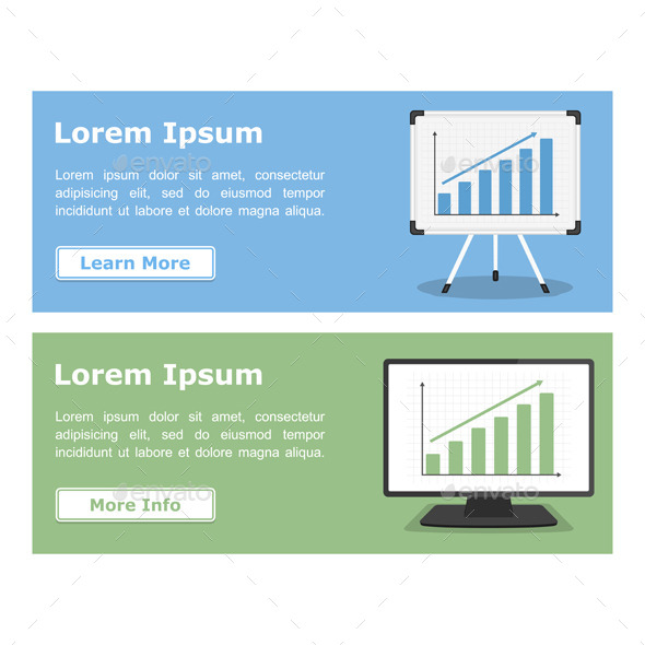 Banners with Graphs - Business Conceptual