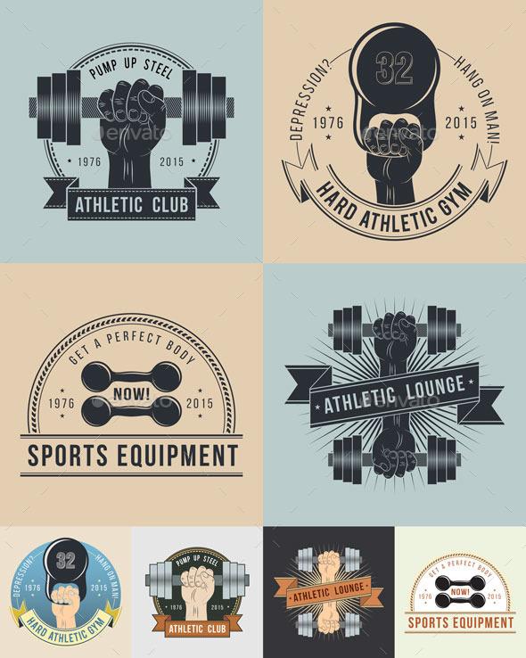Athletic Logos Oldschool - Sports/Activity Conceptual