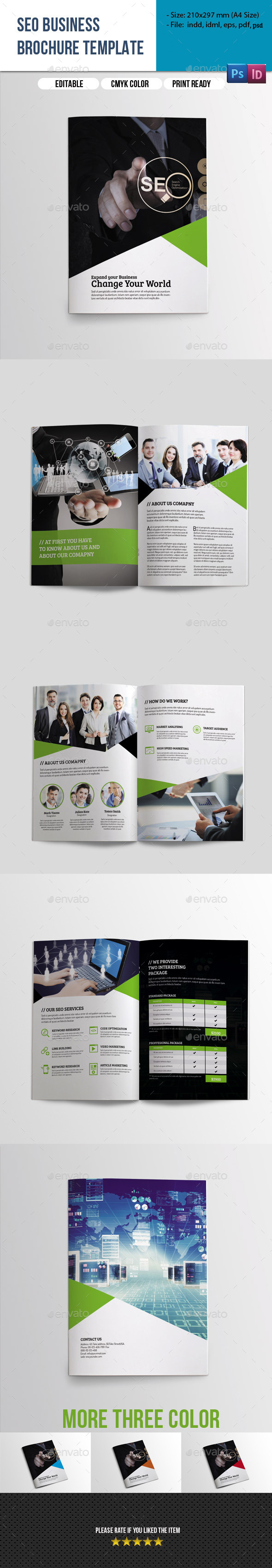 8 Pages SEO Business Brochure - Catalogs Brochures