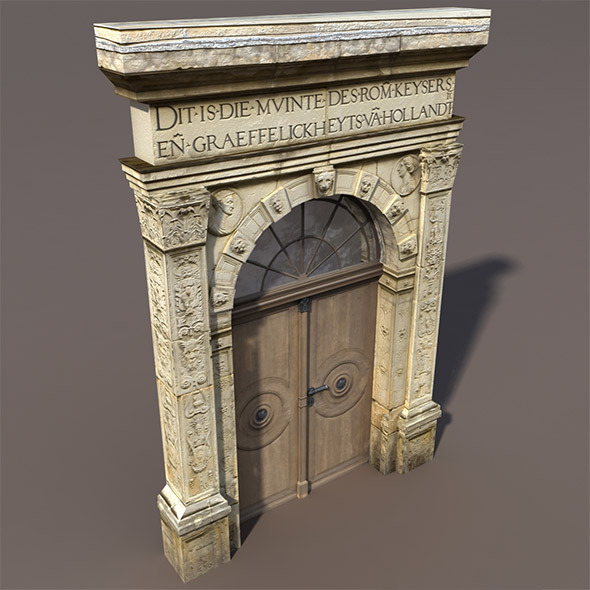 Door Portal Low Poly 3d model - 3DOcean Item for Sale