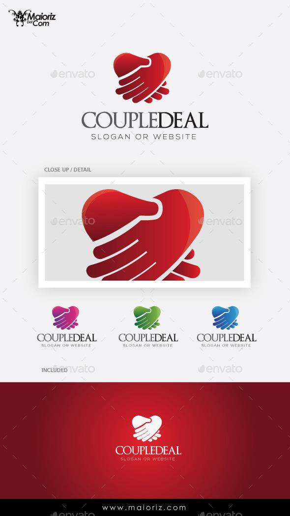 Couple Deal Logo Template - Vector Abstract