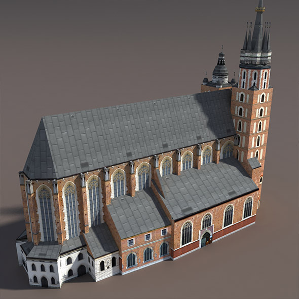 Church St.Maria. Low poly model - 3DOcean Item for Sale