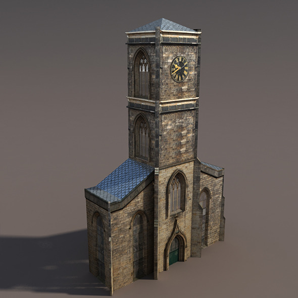 Church Low Poly 3d Model - 3DOcean Item for Sale