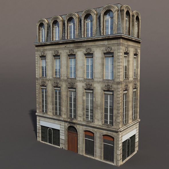Apartment House #86 Low poly 3d Model - 3DOcean Item for Sale