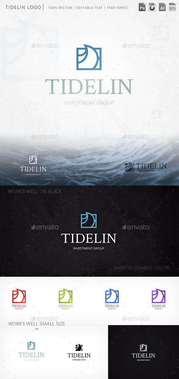 Tidelin Tide Wave Marine Logo Template - Nature Logo Templates