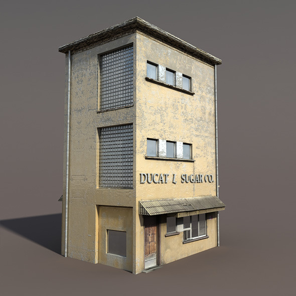 Apartment House #90 Low poly 3d Model - 3DOcean Item for Sale