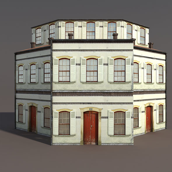 Apartment House #97 Low Poly 3d Model - 3DOcean Item for Sale