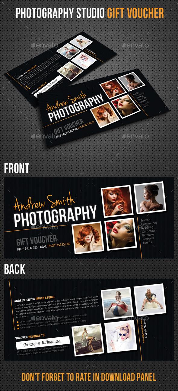 Photography Studio Gift Voucher 02 - Cards & Invites Print Templates