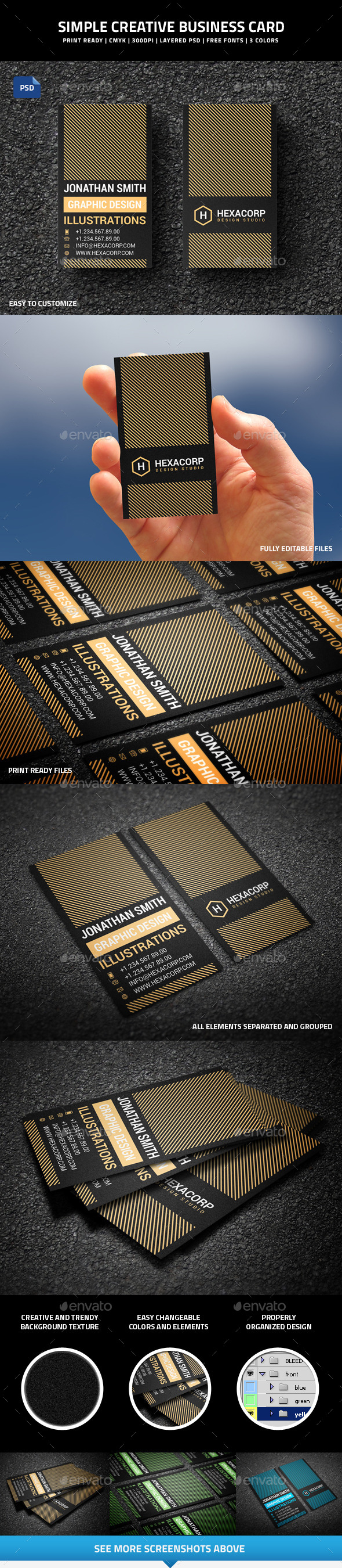 Simple Creative Business Card - 51 - Creative Business Cards