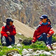 Young girls on the mountain peak - VideoHive Item for Sale