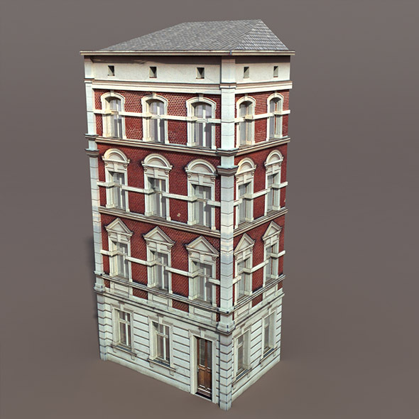 Apartment House #101 Low Poly 3d Model - 3DOcean Item for Sale
