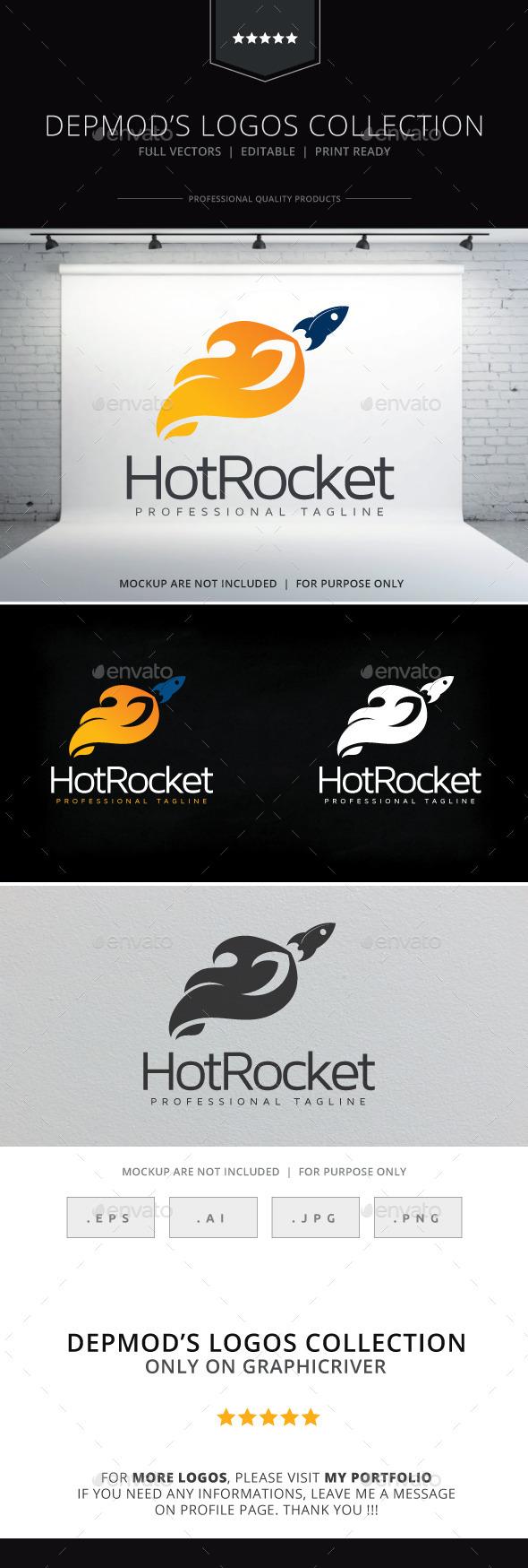 Hot Rocket Logo - Objects Logo Templates