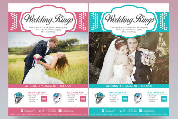 Wedding Rings Flyer Template By Blogankids | Graphicriver