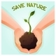 Two Hands Holding a Young Green Plant - GraphicRiver Item for Sale