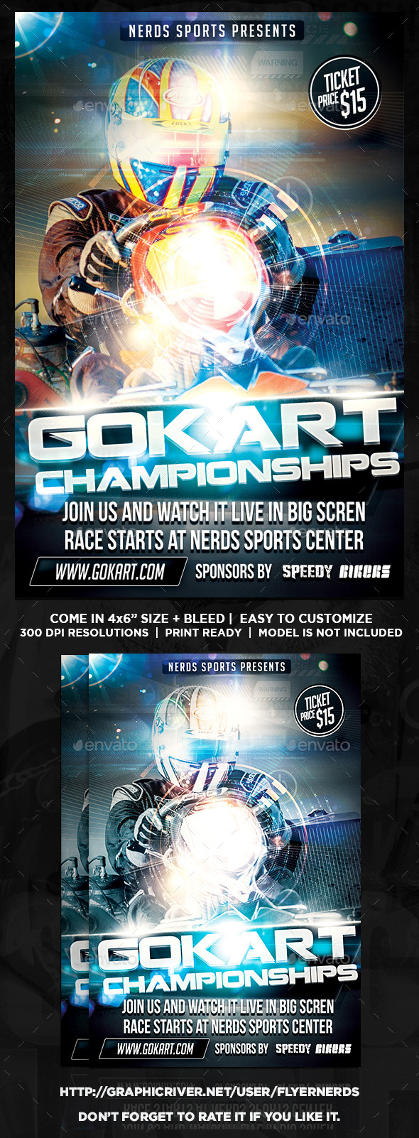 Gokart 2015 Championships Sports Flyer - Sports Events
