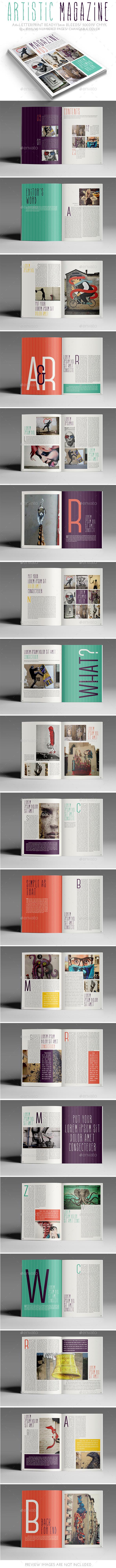 Artistic Magazine - Magazines Print Templates