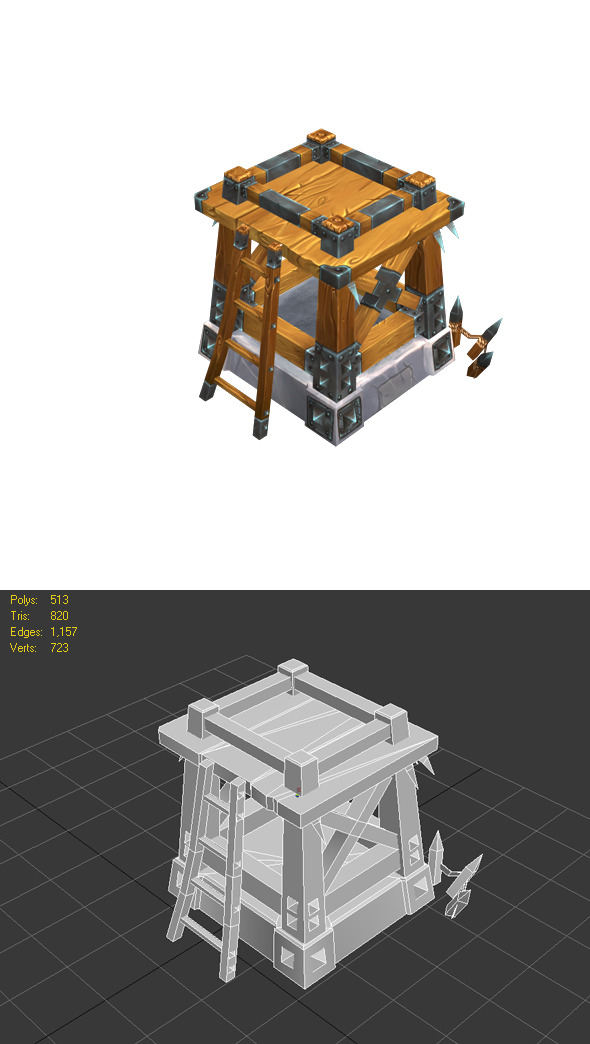 Wooden Tower lvl2 - 3DOcean Item for Sale