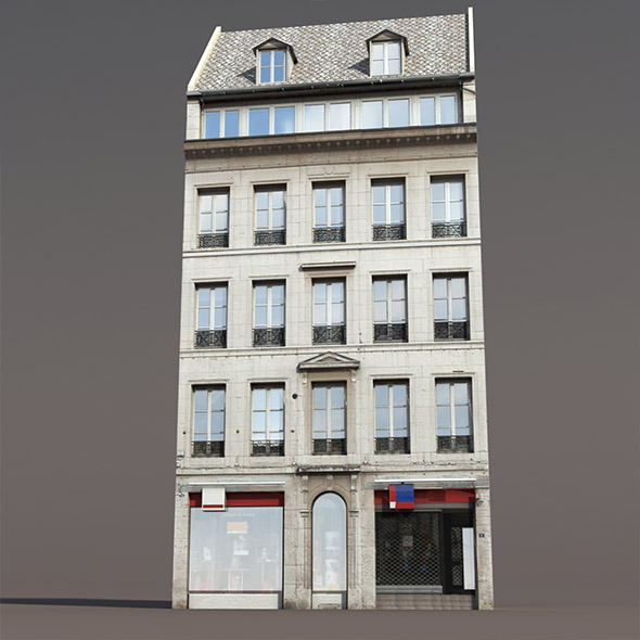 Apartment House #111 Low poly 3d Model1 - 3DOcean Item for Sale