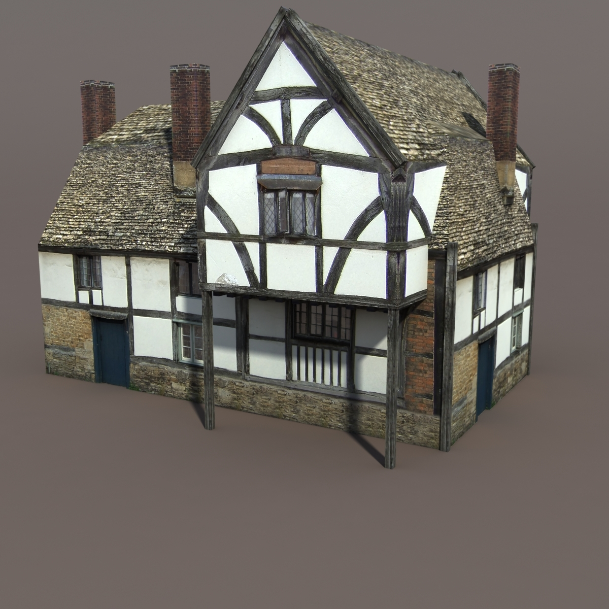 Medieval Building 112 Low Poly 3d Model By Cerebrate