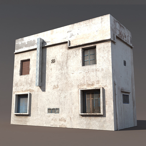 Derelict Building Low poly 3d Model - 3DOcean Item for Sale