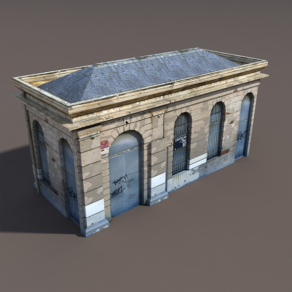 Building Low poly 3d Model - 3DOcean Item for Sale