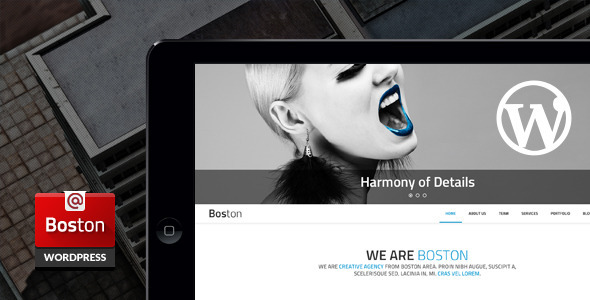 Boston – Corporate Parallax WordPress Theme