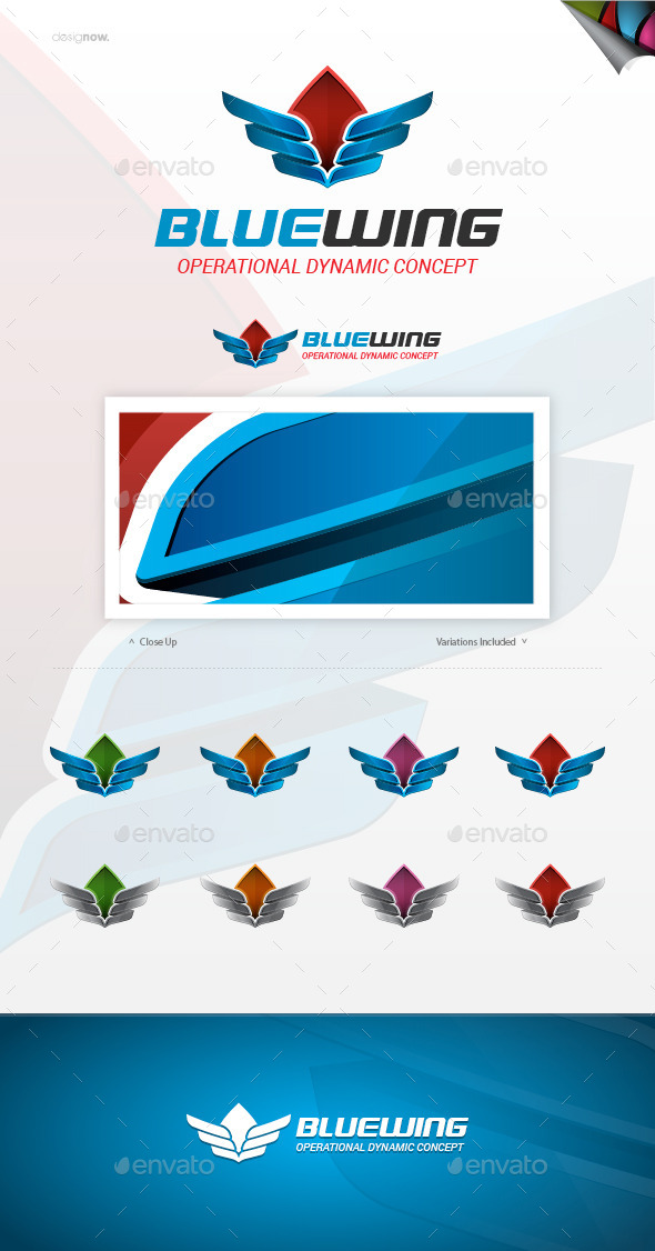 Blue Wing Logo - Abstract Logo Templates