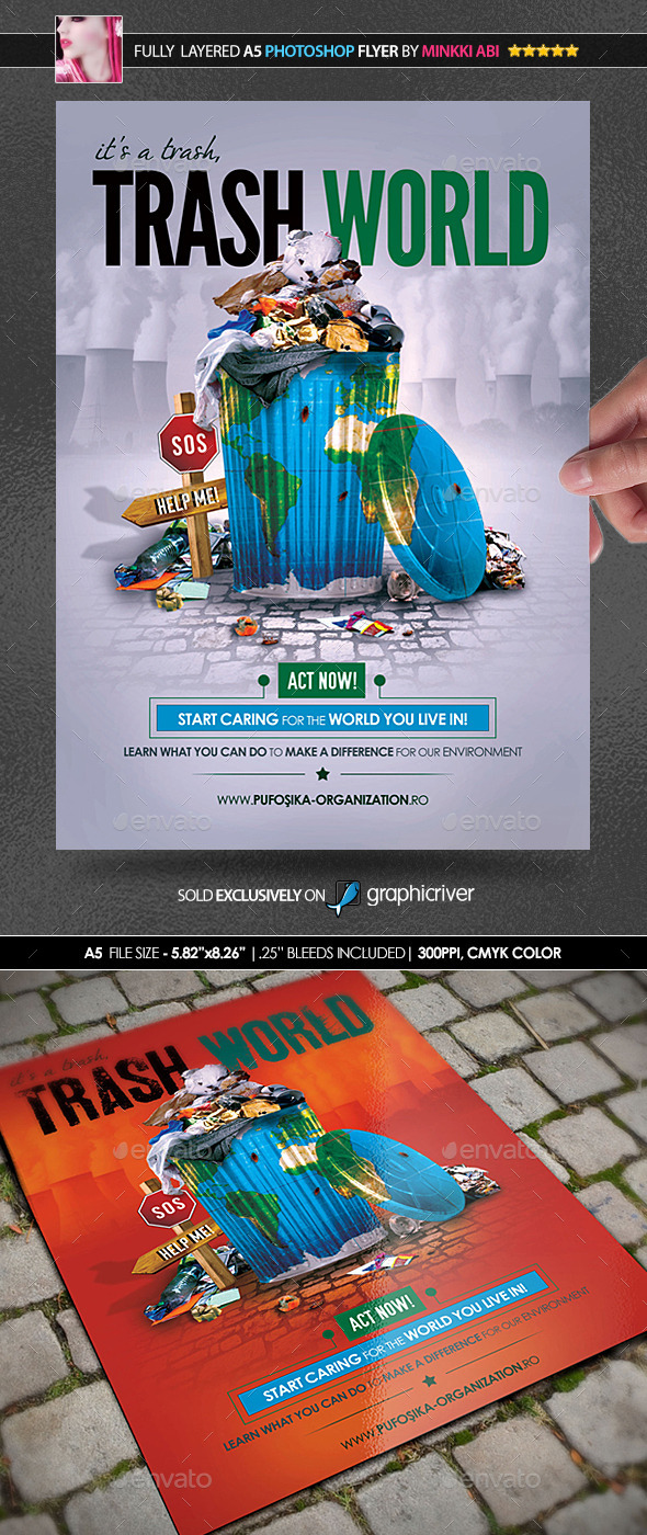 Trash World Poster/Flyer - Flyers Print Templates