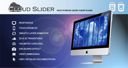 Cloud Slider - Responsive jQuery Slider