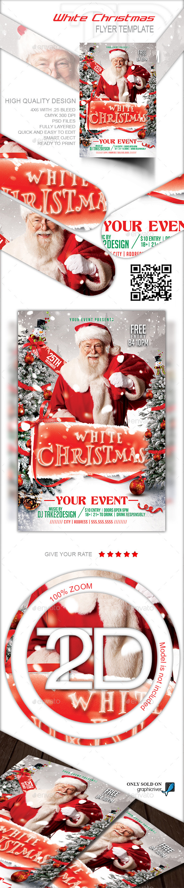 White Christmas Party Flyer - Clubs & Parties Events