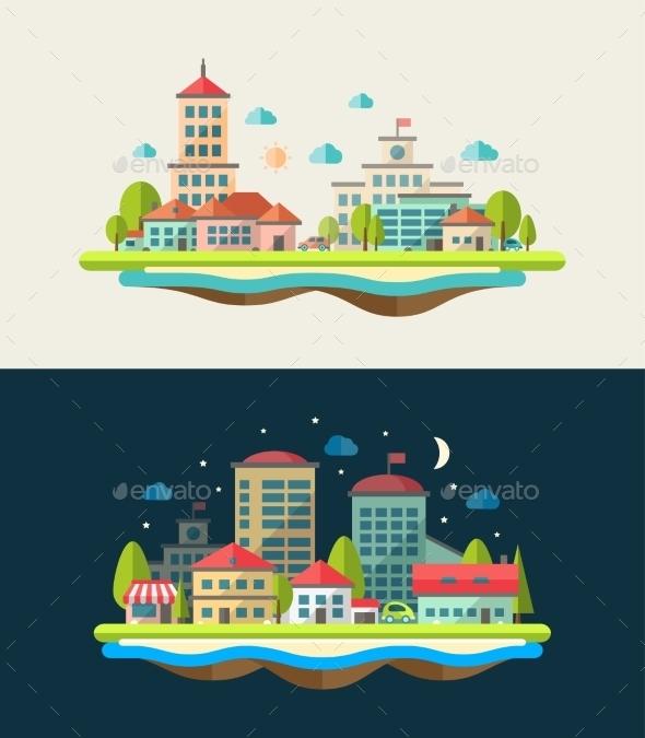 Landscape Combos - Buildings Objects