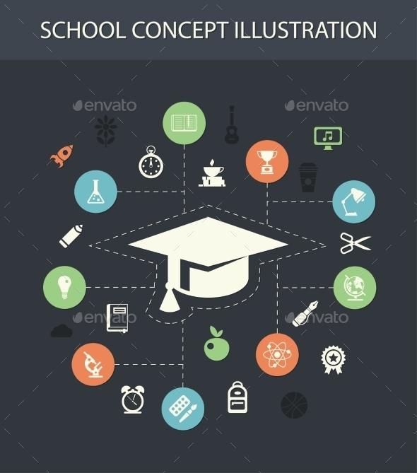 School Composition - Miscellaneous Vectors