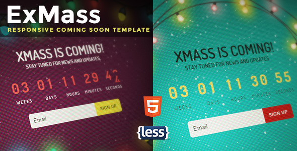 ExMass - Responsive Holiday Coming Soon