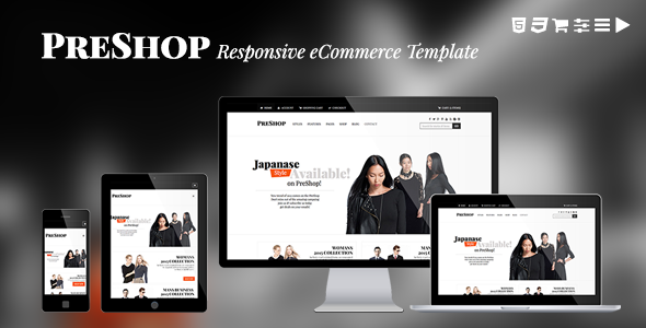 PreShop - Responsive E-Commerce Website Template - Fashion Retail